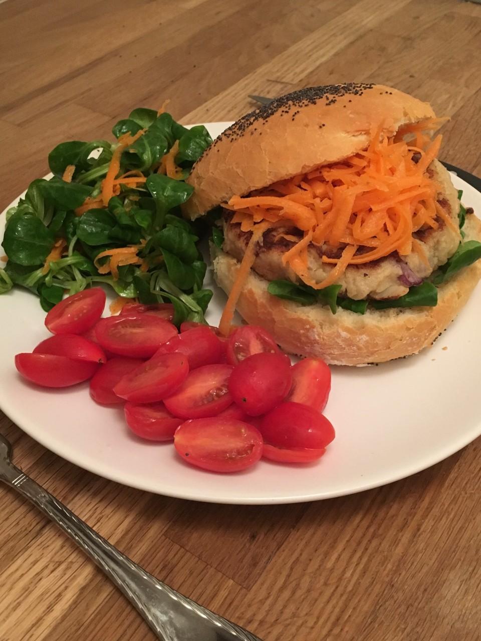 panier des brunettes - burger chou fleur
