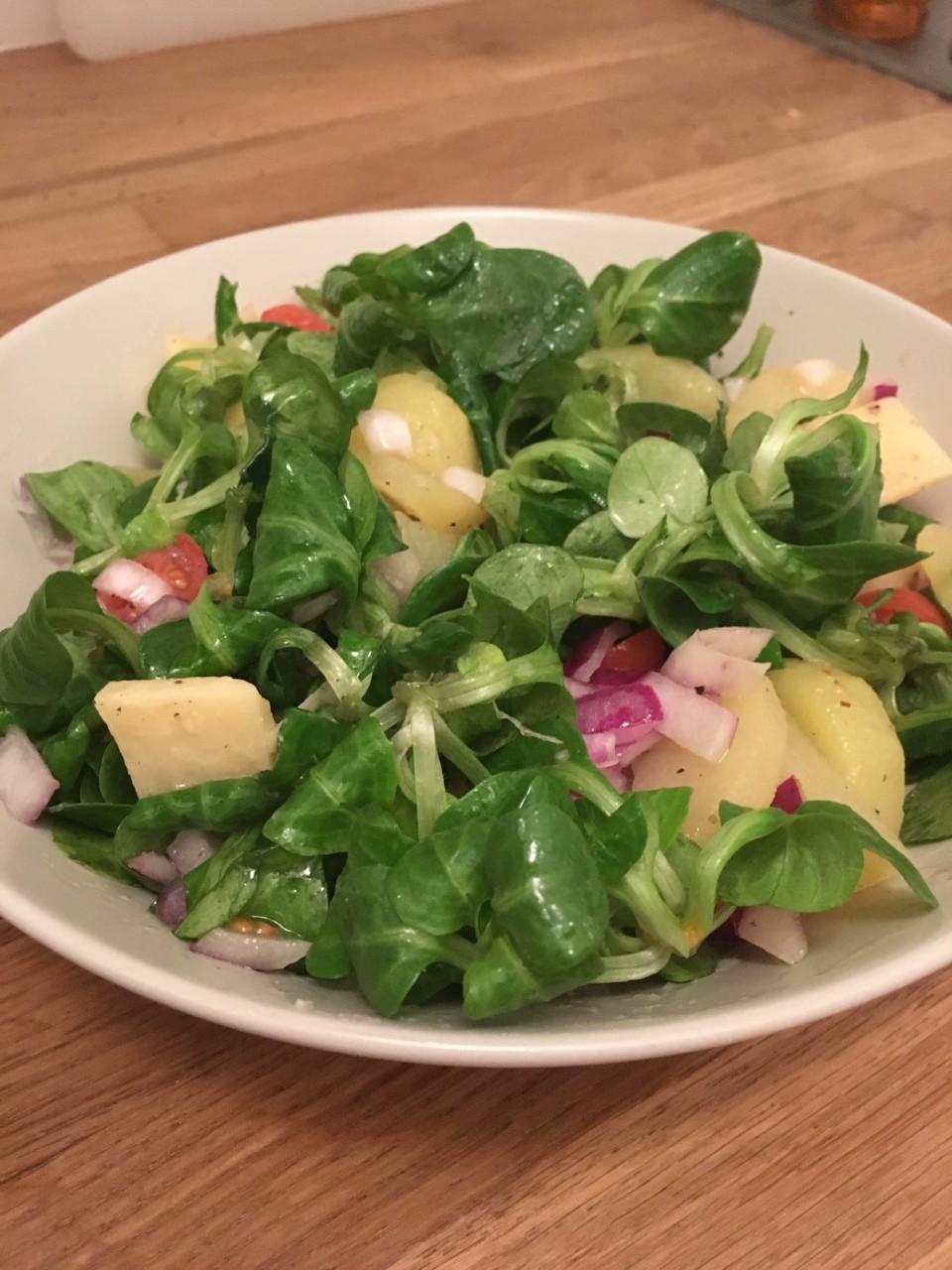 panierdesbrunettes - salade tiede