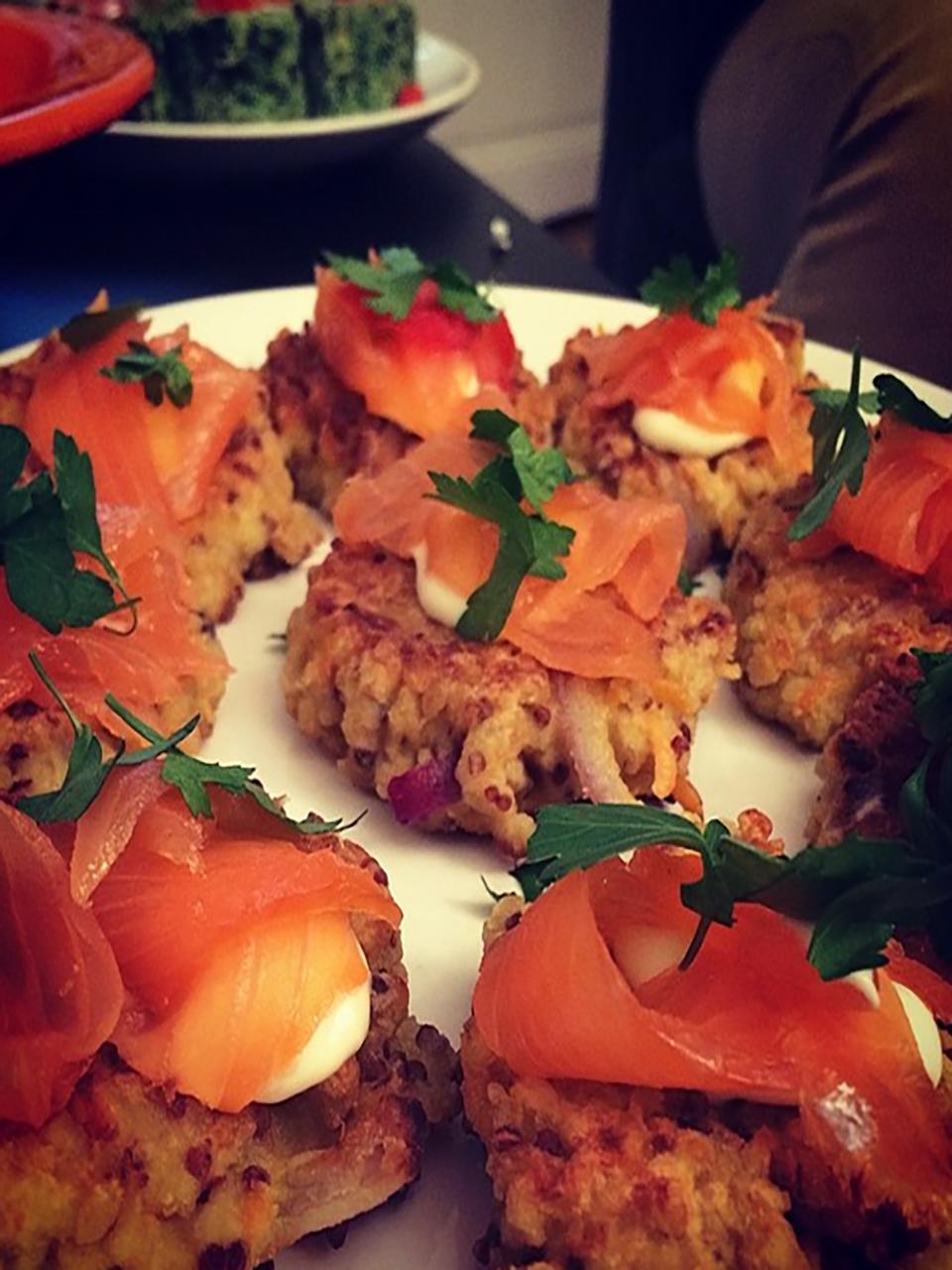 panierdesbrunettes - galette de quinoa endive