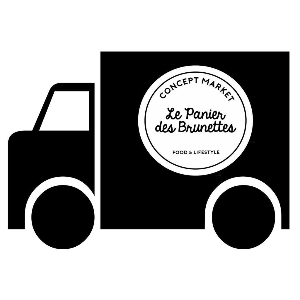 picto camion avec logo brunettes