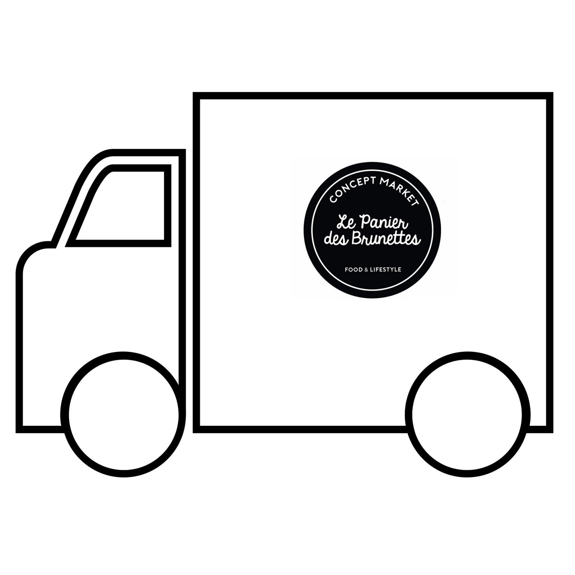 picto camion avec logo brunettes inversé